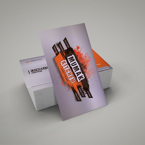 Business card design for catering business in Florida