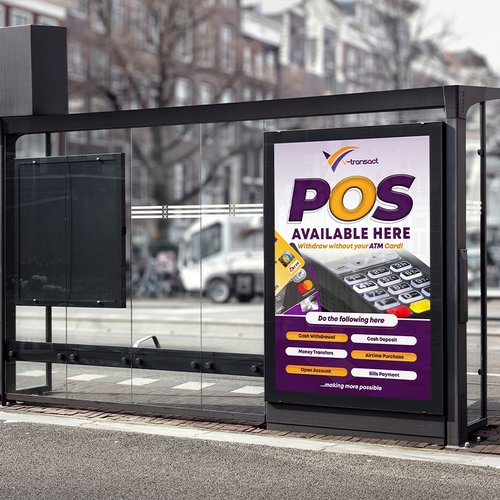 Bus stop banner design and production